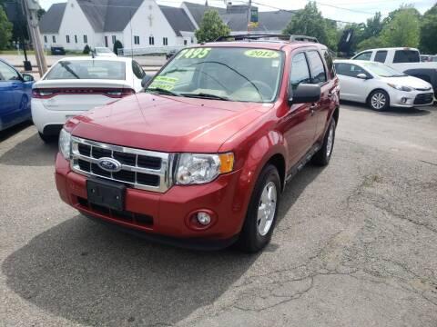2012 Ford Escape for sale at TC Auto Repair and Sales Inc in Abington MA