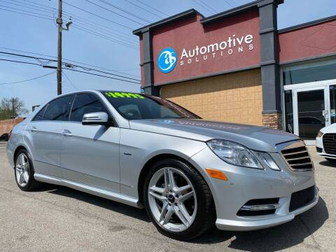 2012 Mercedes-Benz E-Class for sale at Automotive Solutions in Louisville KY