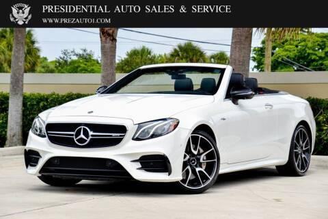 2019 Mercedes-Benz E-Class for sale at Presidential Auto  Sales & Service in Delray Beach FL
