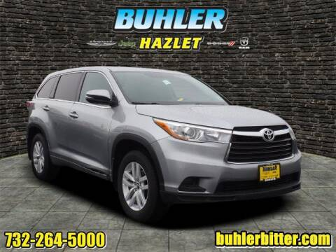 2016 Toyota Highlander for sale at Buhler and Bitter Chrysler Jeep in Hazlet NJ