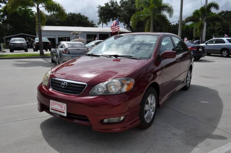 2008 Toyota Corolla for sale at STEPANEK'S AUTO SALES & SERVICE INC. in Vero Beach FL