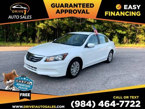2012 Honda Accord for sale at Drive 1 Auto Sales in Wake Forest NC