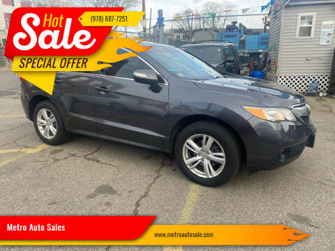 2013 Acura RDX for sale at Metro Auto Sales in Lawrence MA