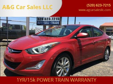 2016 Hyundai Elantra for sale at A&G Car Sales  LLC in Tucson AZ