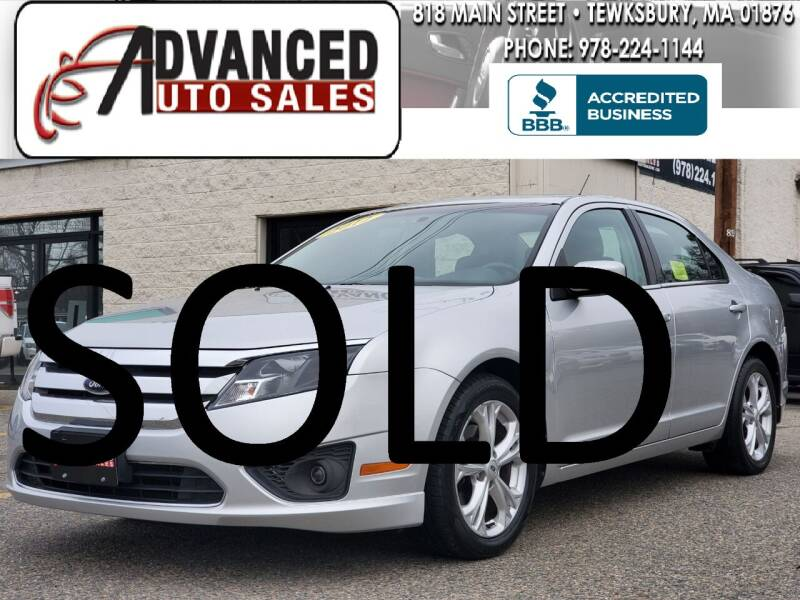 2012 Ford Fusion for sale at Advanced Auto Sales in Tewksbury MA