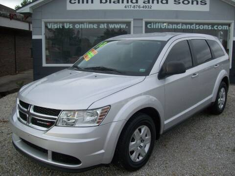 2012 Dodge Journey for sale at Cliff Bland & Sons Used Cars in El Dorado Springs MO