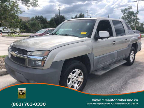 2002 Chevrolet Avalanche for sale at M & M AUTO BROKERS INC in Okeechobee FL