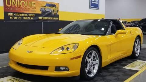 2005 Chevrolet Corvette for sale at UNIQUE SPECIALTY & CLASSICS in Mankato MN