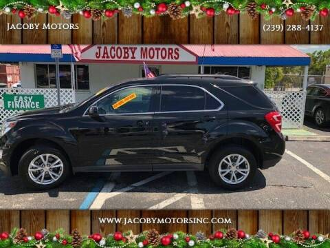 2017 Chevrolet Equinox for sale at Jacoby Motors in Fort Myers FL