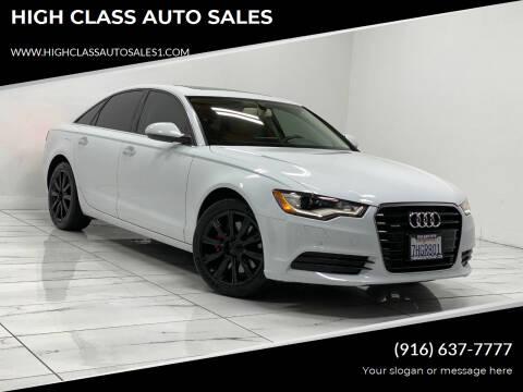 2015 Audi A6 for sale at HIGH CLASS AUTO SALES in Rancho Cordova CA