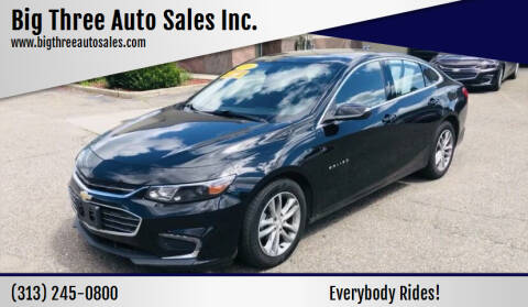 2016 Chevrolet Malibu for sale at Big Three Auto Sales Inc. in Detroit MI