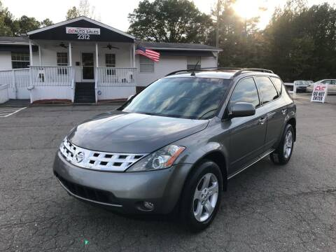 2005 Nissan Murano for sale at CVC AUTO SALES in Durham NC