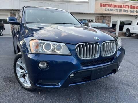 2013 BMW X3 for sale at North Georgia Auto Brokers in Snellville GA