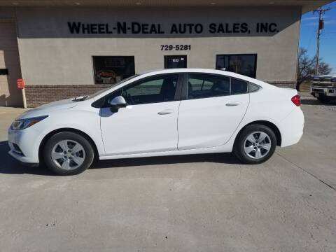2018 Chevrolet Cruze for sale at Wheel - N - Deal Auto Sales Inc in Fairbury NE