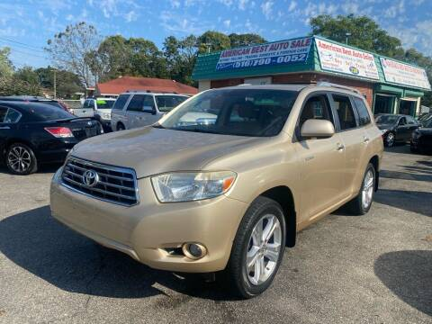 2008 Toyota Highlander for sale at American Best Auto Sales in Uniondale NY