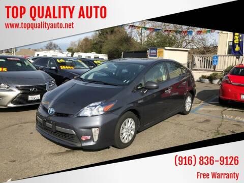 2014 Toyota Prius Plug-in Hybrid for sale at TOP QUALITY AUTO in Rancho Cordova CA