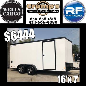 2021 Wells Cargo 16' Enclosed Trailer for sale at CRUMP'S AUTO & TRAILER SALES in Crystal City MO