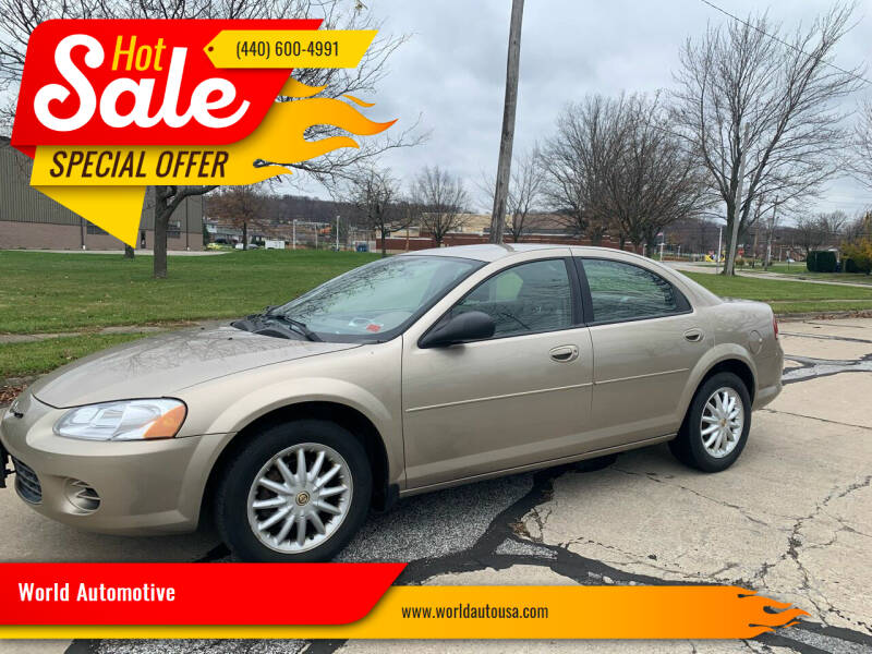 2003 Chrysler Sebring for sale at World Automotive in Euclid OH