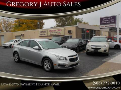 2015 Chevrolet Cruze for sale at Gregory J Auto Sales in Roseville MI