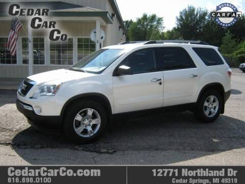 2012 GMC Acadia for sale at Cedar Car Co in Cedar Springs MI