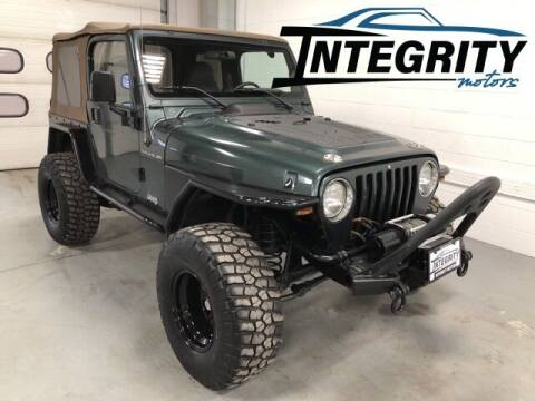 2002 Jeep Wrangler for sale at Integrity Motors, Inc. in Fond Du Lac WI