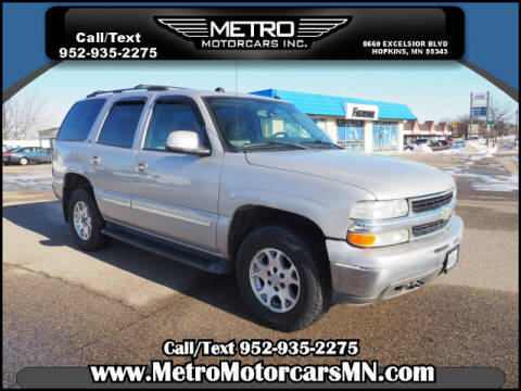 2005 Chevrolet Tahoe for sale at Metro Motorcars Inc in Hopkins MN