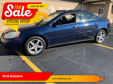 2008 Pontiac G6 for sale at World Automotive in Euclid OH