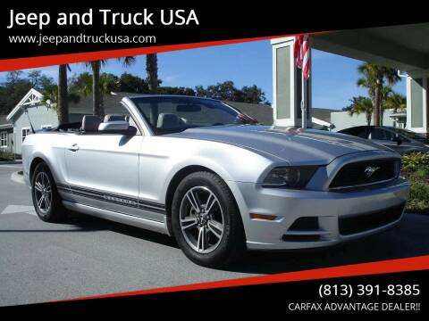 2013 Ford Mustang for sale at Jeep and Truck USA in Tampa FL
