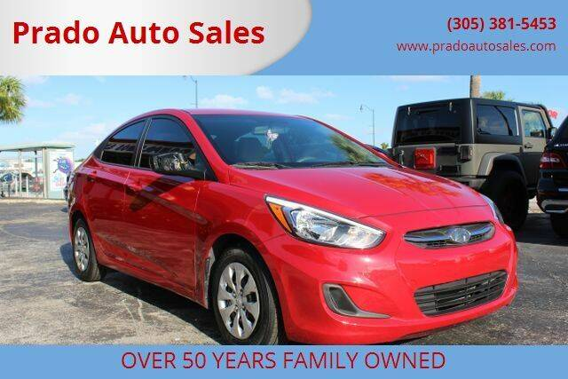 2016 Hyundai Accent for sale at Prado Auto Sales in Miami FL