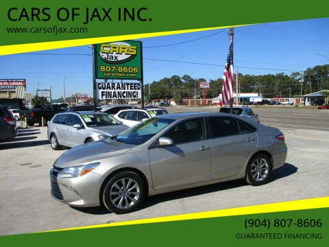 2015 Toyota Camry for sale at CARS OF JAX INC. in Jacksonville FL