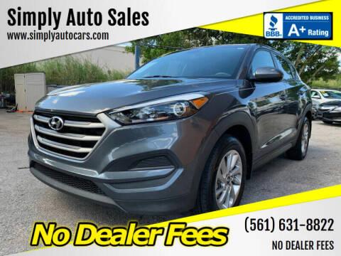2017 Hyundai Tucson for sale at Simply Auto Sales in Palm Beach Gardens FL