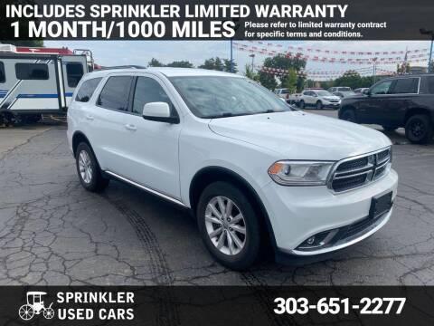 2014 Dodge Durango for sale at Sprinkler Used Cars in Longmont CO