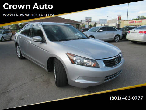 2008 Honda Accord for sale at Crown Auto in South Salt Lake City UT