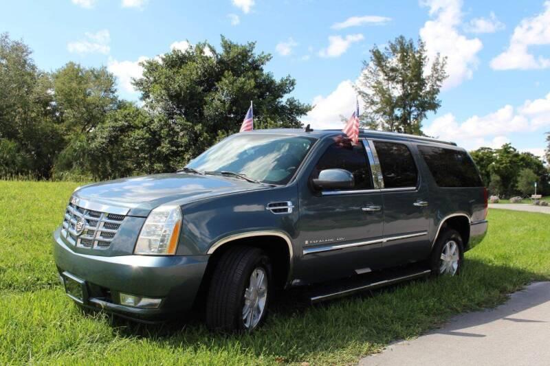 2008 Cadillac Escalade ESV for sale at CHASE MOTOR in Miami FL