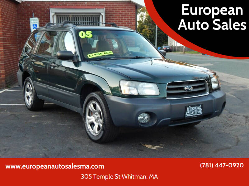 2005 Subaru Forester for sale at European Auto Sales in Whitman MA
