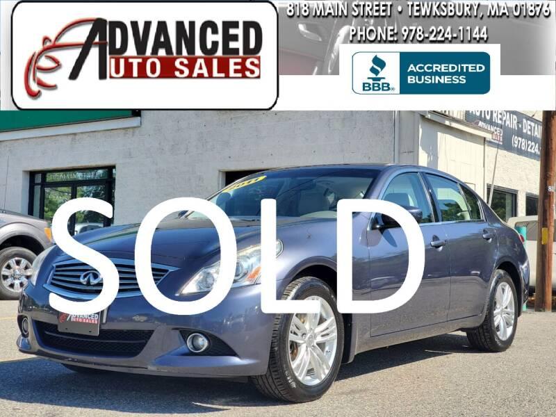2011 Infiniti G25 Sedan for sale at Advanced Auto Sales in Dracut MA