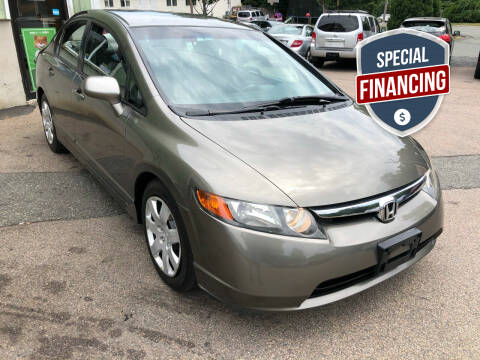 2007 Honda Civic for sale at L A Used Cars in Abington MA
