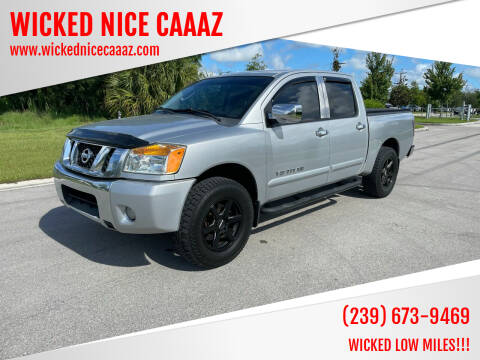 2010 Nissan Titan for sale at WICKED NICE CAAAZ in Cape Coral FL