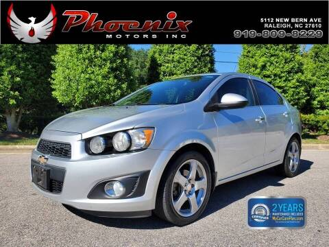 2013 Chevrolet Sonic for sale at Phoenix Motors Inc in Raleigh NC
