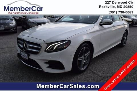 2017 Mercedes-Benz E-Class for sale at MemberCar in Rockville MD