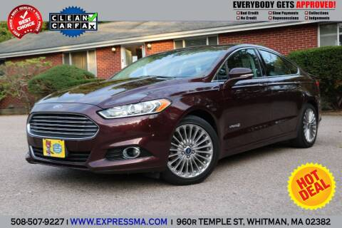 2013 Ford Fusion Hybrid for sale at Auto Sales Express in Whitman MA