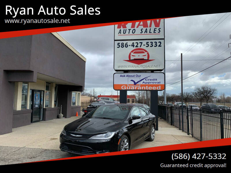 2015 Chrysler 200 for sale at Ryan Auto Sales in Warren MI