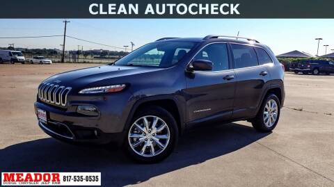 2016 Jeep Cherokee for sale at Meador Dodge Chrysler Jeep RAM in Fort Worth TX
