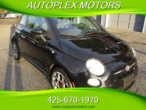 2012 FIAT 500 for sale at Autoplex Motors in Lynnwood WA