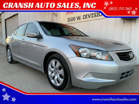 2009 Honda Accord for sale at CRANSH AUTO SALES, INC in Arlington TX