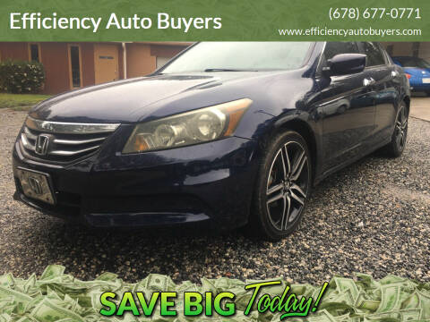 2011 Honda Accord for sale at Efficiency Auto Buyers in Milton GA