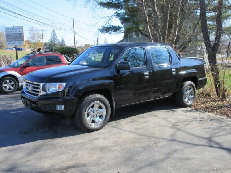 2012 Honda Ridgeline for sale at ABC AUTO LLC in Willimantic CT