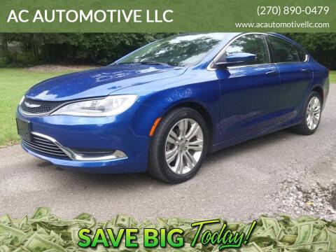2016 Chrysler 200 for sale at AC AUTOMOTIVE LLC in Hopkinsville KY