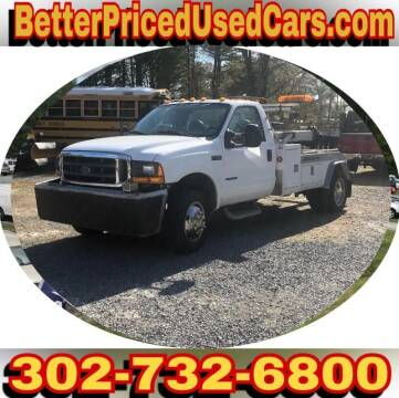 1999 Ford F-450 Super Duty for sale at Better Priced Used Cars in Frankford DE