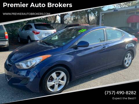2013 Hyundai Elantra for sale at Premier Auto Brokers in Virginia Beach VA